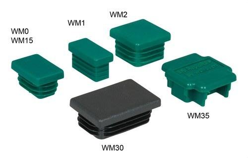 Tapón BIS para carril WM35 38x40mm verde