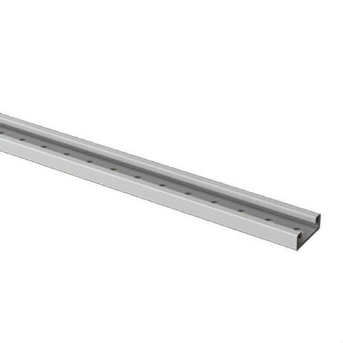 Tele-raíl PVC-M1 U23X 18x50 gris