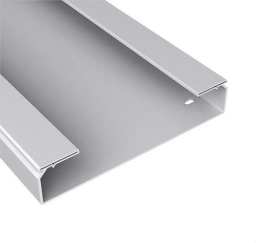 Bandeja 66 lisa PVC-M1 U23X 100x400 gris