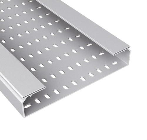 Bandeja 66 perforada PVC-M1 U23X 100x500 gris