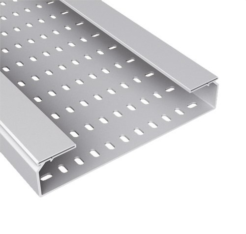Bandeja 66 perforada PVC-M1 U23X 100x600 gris