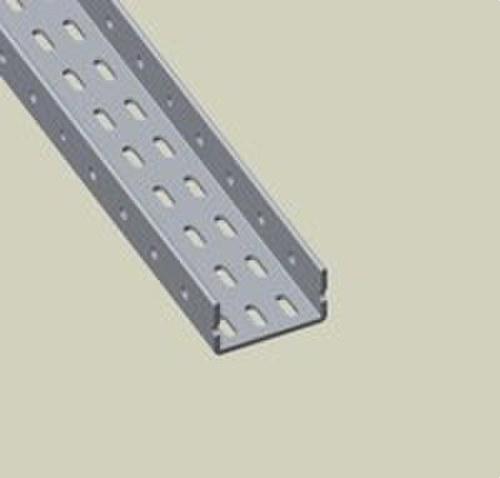 Pieza U perforada EPOXI longitud 0.5m gris