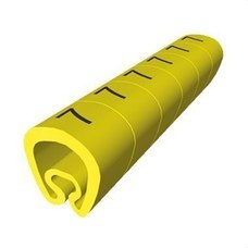 UNEX 1811-6 Señalización PVC plástico 2-5mm -6-amarillo