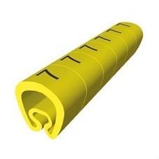 UNEX 1811-7 Señalización PVC plástico 2-5mm -7-amarillo