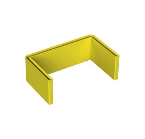 Protector perfil U PVC plastificado amarillo