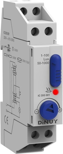 Interruptor crepuscular modular regulación 1000 lux
