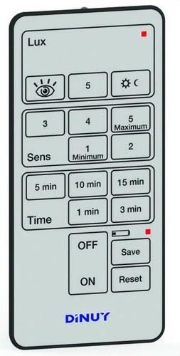 Mando distancia ajuste parametro detector