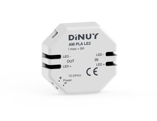 Amplificador tiras led 12-48V corriente continua 8A
