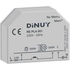 DINUY RE PLA 001 Regulador intensidad 500W incandescente 350W halógena