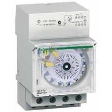 SCHNEIDER ELECTRIC 15366 Interruptor horario analógico IH 24h+7 días con 3 módulos 1+1C-10A
