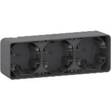 SCHNEIDER ELECTRIC MUR37713 Caja triple MUREVA STYL gris para instalación en superficie horizontal (IP55)