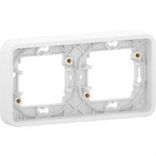 SCHNEIDER ELECTRIC MUR39101 Marco 2 elementos componible MUREVA STYL blanco para instalación en superficie o empotrada