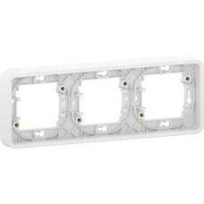 SCHNEIDER ELECTRIC MUR39109 Marco 3 elementos componible MUREVA STYL blanco para instalación en superficie o empotrada
