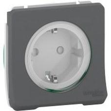 SCHNEIDER ELECTRIC MUR36135 Base enchufe schuko componible 10A MUREVA STYL gris para instalación en superficie o empotr