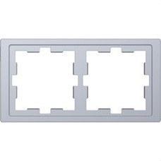 SCHNEIDER ELECTRIC MTN4020-6536 Marco de 2 elementos D-LIFE para montaje vertical y horizontal de color aluminio
