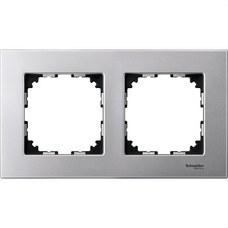 SCHNEIDER ELECTRIC MTN4020-3160 Marco 2 elementos ELEGANCE aluminio