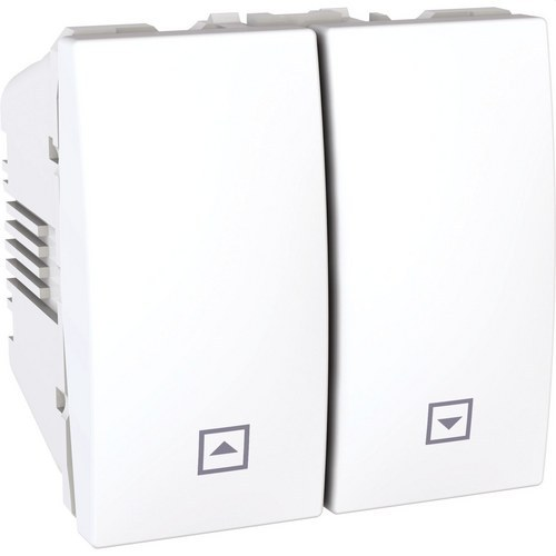 Interruptor persianas 2 módulos Unica marfil