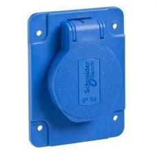 SCHNEIDER ELECTRIC PKS61B Base 10/16A 2P+TT apriete posterior 65x85 azul