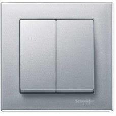 SCHNEIDER ELECTRIC MTN433560 Tecla doble ELEGANCE aluminio
