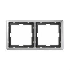 SCHNEIDER ELECTRIC MTN481246 Marco con 2 elementos Artec acero