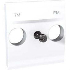 SCHNEIDER ELECTRIC U9.440.18 Caratula toma TV/FM blanco polar serie ÚNICA