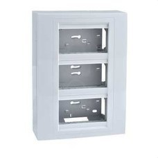 SCHNEIDER ELECTRIC U22.234.18 Centralización puesto de trabajo UNICA SYSTEM con 3 columnas blanco polar