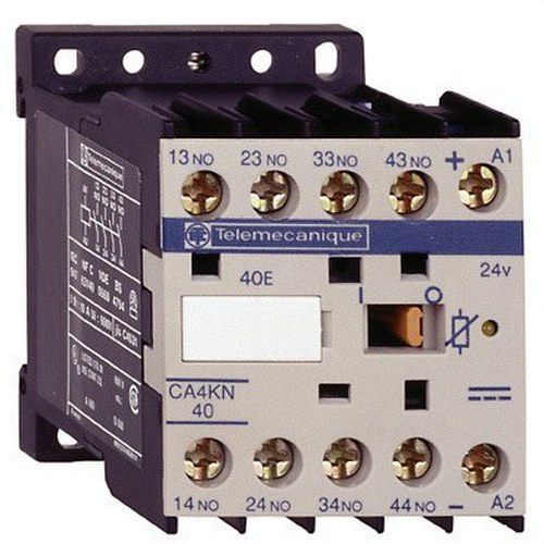 MINICONTACTOR AUXILIAR 2 NA+2 NC 24V CC B/-C