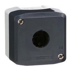 SCHNEIDER ELECTRIC XALD01 Caja gris claro con tapa gris antracita con taladro 1