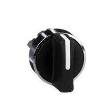 SCHNEIDER ELECTRIC ZB4BD2 Cabeza selector diámetro 22 maneta corta negra 2 fijación embellecedor metálico