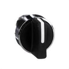 SCHNEIDER ELECTRIC ZB4BD3 Cabeza selector diámetro 22 maneta corta negra 3 fijación embellecedor metálico