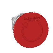 SCHNEIDER ELECTRIC ZB4BS844 Cabeza pulsador seta diámetro 40 girar roja embellecedor metálico