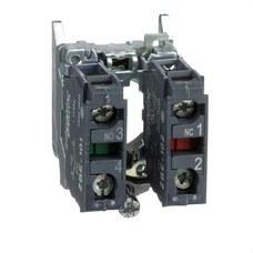 SCHNEIDER ELECTRIC ZB4BZ105 Cuerpo diámetro 22mm 1 NA/1 NC con conexión tornillo embellecedor metálico