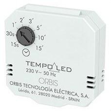 ORBIS OB200007 Temporizador regulador TEMPO LED 15seg/15min 2-3 hilos