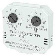 ORBIS OB200008 Temporizador regulador 15seg/15min TEMPO LED 2N