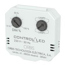 ORBIS OB200010 Regulador luminosidad CONTROL LED para caja mecanismo universal