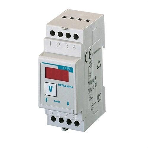 Voltímetro METRA M-V/A 600VCA DIN 2 módulos