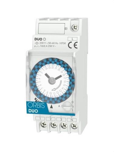 Interruptor horario modular DUO D 250VCA