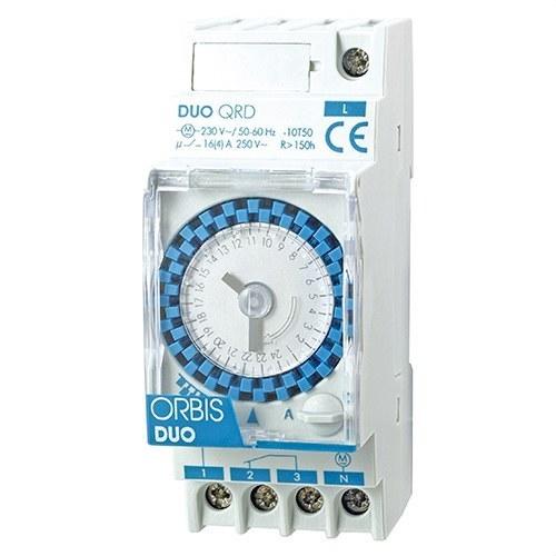 Interruptor horario modular DUO QRS 250VCA