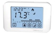 ORBIS OB325300 Cronotermostato MIRUS TOUCH pantalla táctil blanco