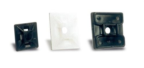 Base adhesiva SAP101N soporte brida 28x28 negro