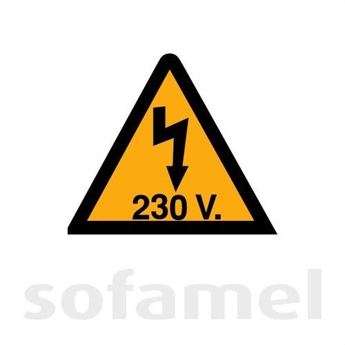 Señal plástico VT230V55 riesgo eléctrico 52mm