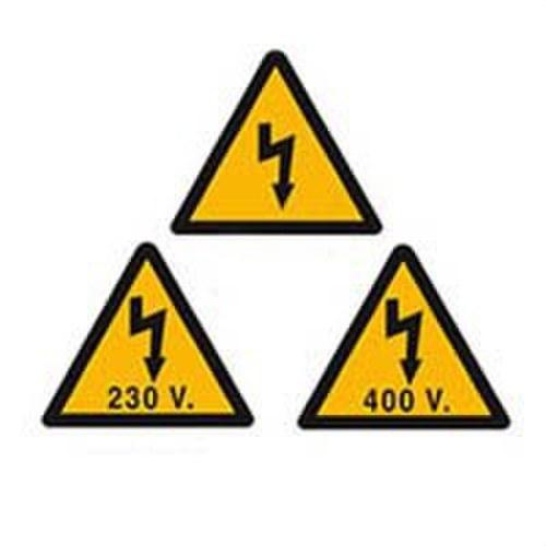 Señal plástico VT230V10 riesgo eléctrico 105mm