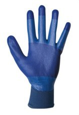 SOFAMEL 540120 Guantes de protección mecánica SH-265 T8 con nylon recubiertos de nitrilo azul en la palma