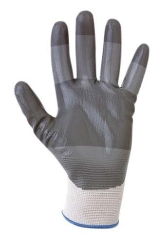 Guantes de protección mecánica SH-370 T9 con nylon recubiertos de nitrilo gris en la palma