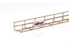 PEMSA 60222100 Bandeja de rejilla Rejiband altura 60 mm y ancho 100 mm con borde de seguridad, en acero, a