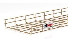 PEMSA 60222300 Bandeja de rejilla Rejiband altura 60 mm y ancho 300 mm con borde de seguridad, en acero, a