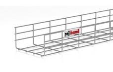 PEMSA 60233200 Bandeja de rejilla Rejiband altura 100 mm y ancho 200 mm con borde de seguridad, en acero,
