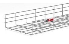 PEMSA 60233300 Bandeja de rejilla Rejiband altura 100 mm y ancho 300 mm con borde de seguridad, en acero,