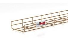 PEMSA 60222150 Bandeja de rejilla Rejiband altura 60 mm y ancho 150 mm con borde de seguridad, en acero, a