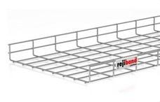 PEMSA 60232400 Bandeja de rejilla Rejiband altura 60 mm y ancho 400 mm con borde de seguridad, en acero, a